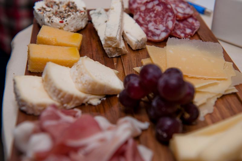 Degustationsbuffet bei Weindegustation