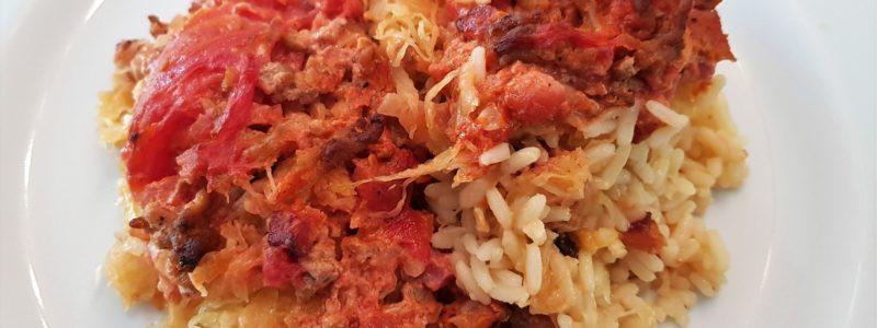 Für die kalten Tage ein Sauerkraut-Reis-Auflauf Rezept