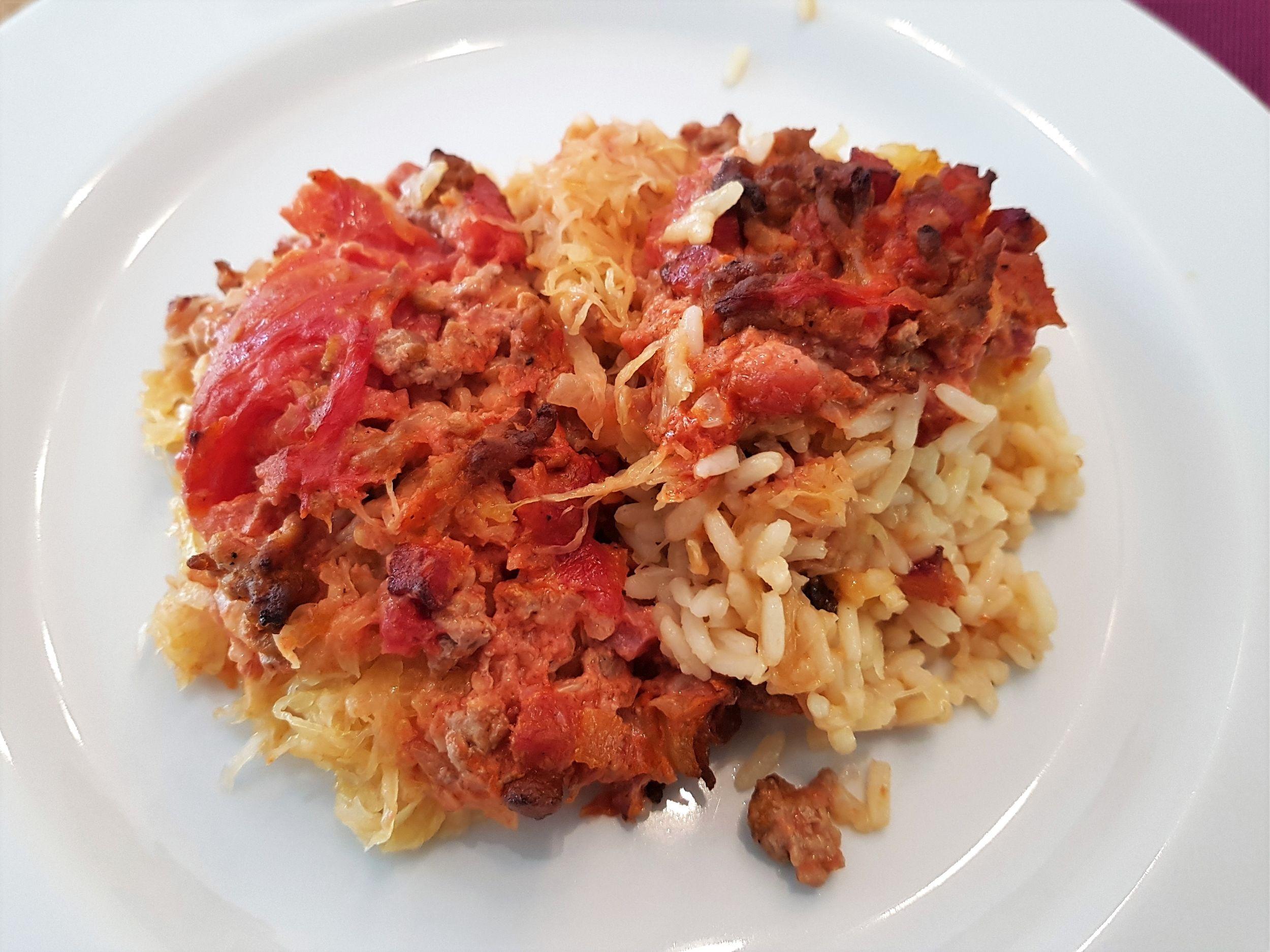 Sauerkraut-Reis Auflauf
